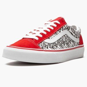 VANS STYLE 36 SKATE SHOES MEN'S Mix Racing Red
